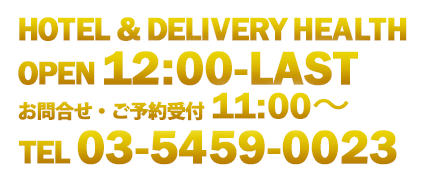 HOTEL&DELIVERY HEALTH open10:00-LAST tel03-5459-0023